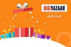 Big Bazaar gift card design and art work