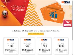 Big Bazaar gift card purchase