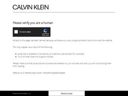 Calvin Klein shopping
