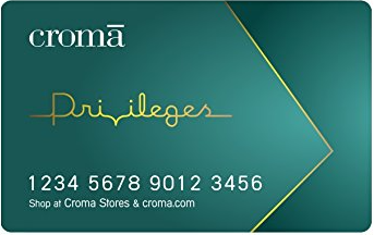 Croma gift card design and art work