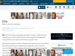Elle French Fashion shopping