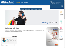 Federal Bank Prepaid gift card purchase