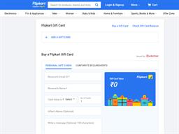 Flipkart gift card purchase