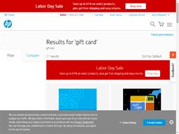 HP gift card balance check