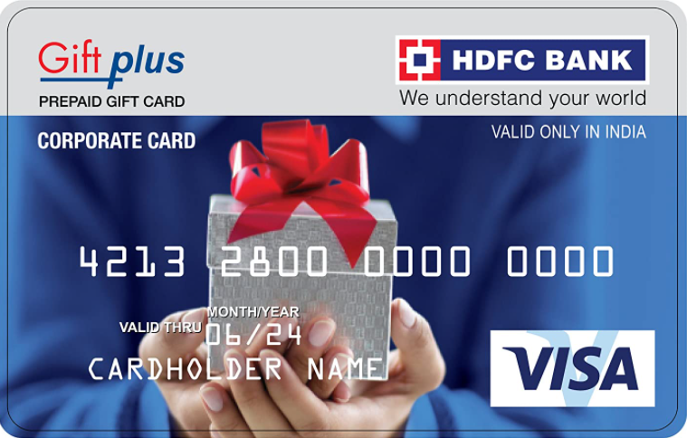 HDFC Giftplus gift card design and art work