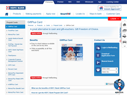HDFC Giftplus gift card purchase