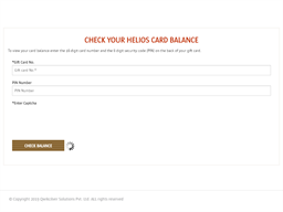 Helios gift card purchase