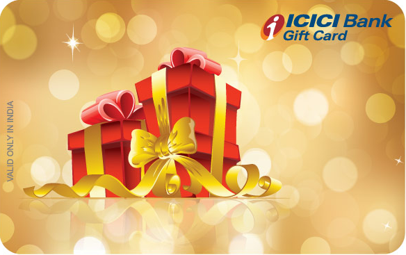Icici Bank Gift Card gift card design and art work