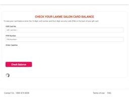 Lakme Salon gift card purchase