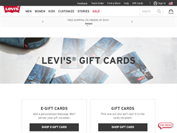 Levi's gift card purchase
