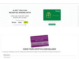 Lifestyle gift card balance check