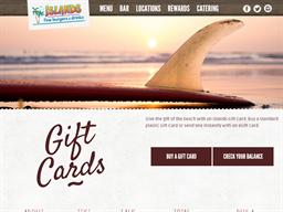 Islands Restaurant gift card purchase