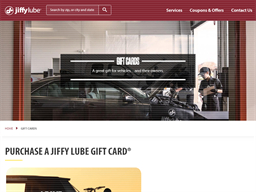 Jiffy Lube gift card purchase