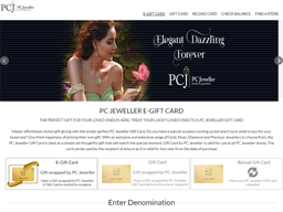 PCJ Jeweller gift card purchase
