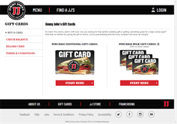 Jimmy Johns gift card purchase