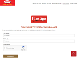 Prestige Smart Kitchen gift card balance check