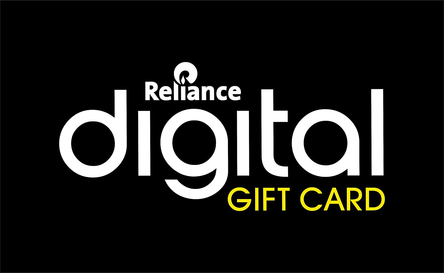Reliance gift card design and art work