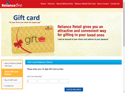 Reliance gift card purchase