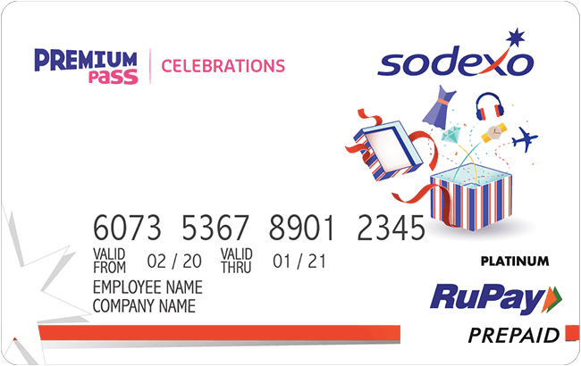 Sodexo gift card design and art work