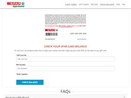 Spar Hypermarkets gift card purchase