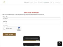 Taj Experiences gift card balance check