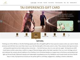 Taj Experiences gift card purchase