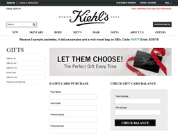 Kiehls gift card purchase