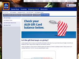 ALDI gift card balance check