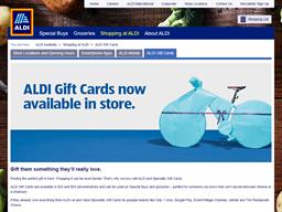 ALDI gift card purchase