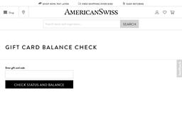 American Swiss gift card balance check