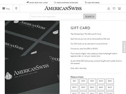 American Swiss gift card purchase
