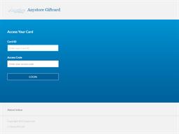 Anystore Prepaid gift card balance check