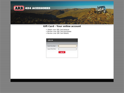 ARB 4x4 Accessories gift card balance check