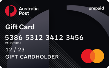 Australia Post Gift Card by Mastercard gift card design and art work