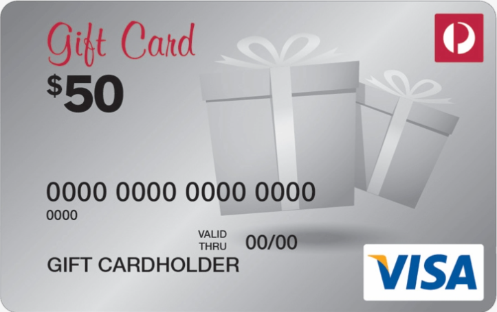 Australia Post Visa Prepaid Gift Cards gift card design and art work