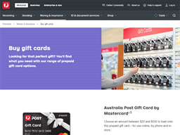 Australia Post Visa Prepaid Gift Cards gift card purchase