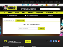 Big Bash gift card balance check