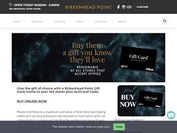 Birkenhead Point gift card balance check