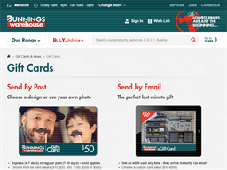 Bunnings Warehouse gift card purchase