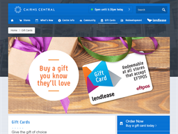 Cairns Central gift card balance check
