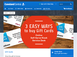 Caneland Central gift card purchase