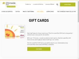 Chirnside Park gift card purchase
