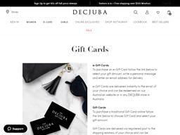 Decjuba gift card balance check