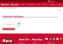 Kwik Trip gift card balance check