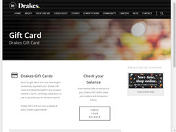 Drakes Supermarkets gift card purchase