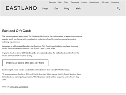 Eastland gift card purchase
