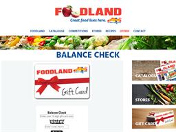 Foodland SA gift card balance check