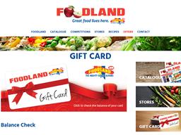 Foodland SA gift card purchase
