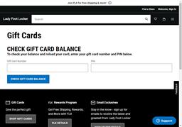 Lady Foot Locker gift card balance check