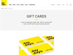 Jay Jays gift card purchase
